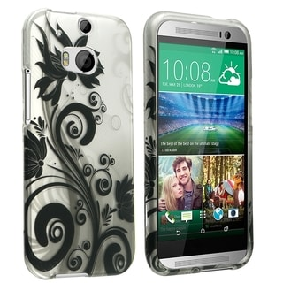 BasAcc Design Pattern Dust Proof Rubberized Hard Case Cover for HTC One 2 M8