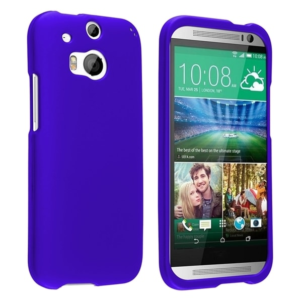 INSTEN Colorful Dust Proof Rubberized Coated Hard Plastic Phone Case Cover for HTC One 2 M8