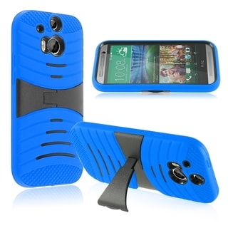BasAcc Kickstand Shockproof Hard PC Soft Silicone Hybrid Case for HTC One 2 M8