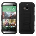 INSTEN Kickstand Shockproof Hard Plastic PC Soft Silicone Hybrid Phone Case Cover for HTC One 2 M8
