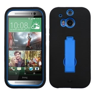 BasAcc Blue Black Kickstand Hard PC Soft Silicone Hybrid Case for HTC One M8