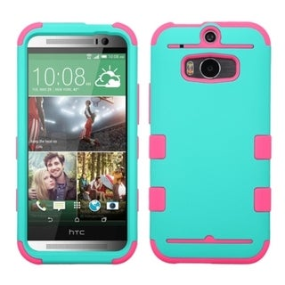BasAcc Rugged Shock Dirt Proof Hard PC Soft Silicone Hybrid Case for HTC One M8
