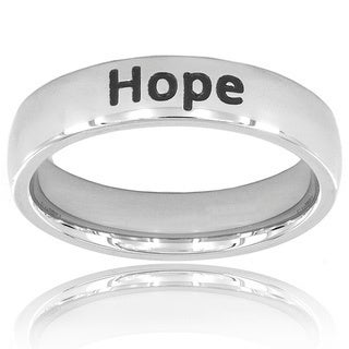 """Stainless Steel """"Hope"""" Ring"""