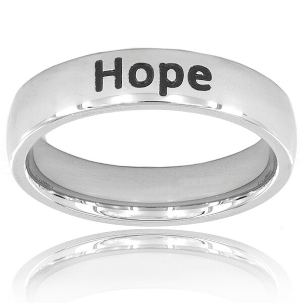 "Stainless Steel ""Hope"" Ring"