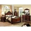 Furniture of America Luxi Kenji Formal 4-Piece Poster Bedroom Set