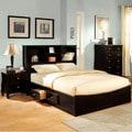 Furniture of America Elisandre Espresso 3-Piece Bookcase Style Bedroom Set