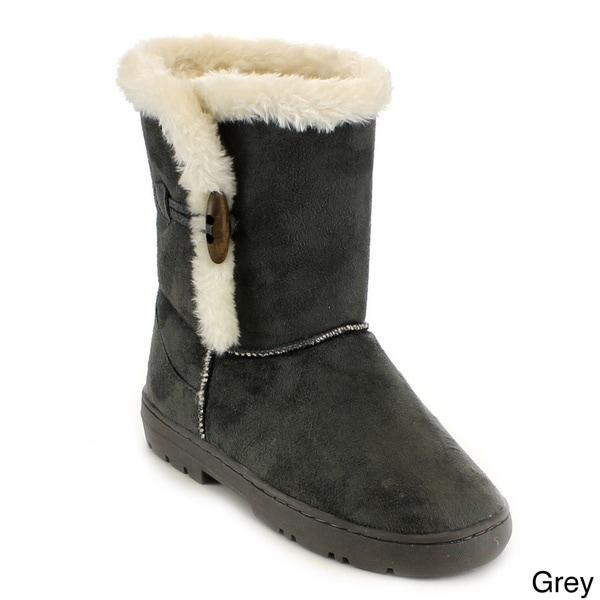 Mark & Maddux Women's 'Jeff-02' Fur Collar Mid-calf Winter Boots