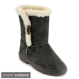Mark & Maddux Women's 'Jeff-02' Fur Collar Mid-calf Winter Boots