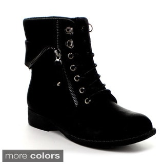 VIA PINKY Women's 'Sky-02' Foldable Zip Ankle Booties