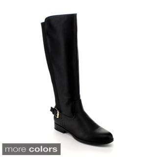 Via Pinky Women's 'Amie-22' Buckled Knee-high Riding Boots