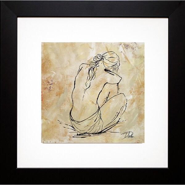Patricia Pinto 'Nude Sketch on Beige I' Framed Art Print 13383628