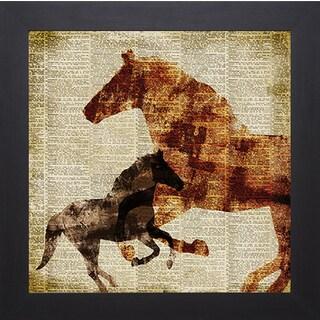 Dan Meneely 'Horses II' Framed Art Print