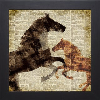 Dan Meneely 'Horses I' Framed Art Print
