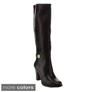 Via Pinky Women's 'Mylee-62' Stacked Heel Knee-high Riding Boots