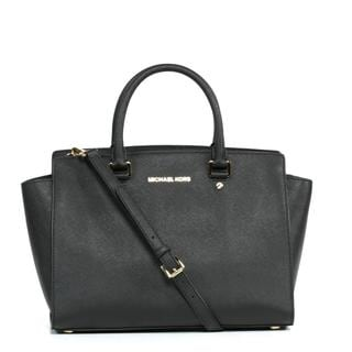 MICHAEL Michael Kors 'Selma' Large Black Satchel