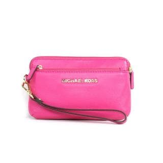 MICHAEL Michael Kors 'Bedford' Medium Raspberry Wristlet