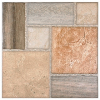 SomerTile 17.75x17.75-inch Catalonia Arena Ceramic Floor and Wall Tile (Case of 8)