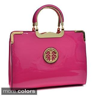 Dasein Faux Patent Emblem Briefcase-style Bag