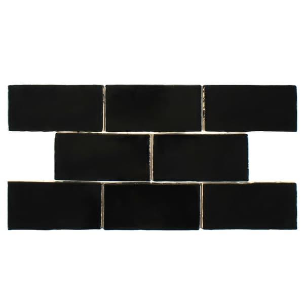 Somertile 3x6 inch thames nero ceramic wall tile case of for 10 inch floor tiles