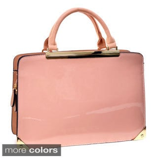 Dasein Patent Briefcase-style Structured Bag
