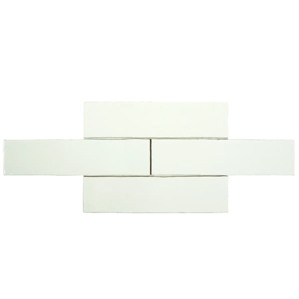 SomerTile 3x12-inch Thames Bianco Ceramic Wall Tile (Case of 16)