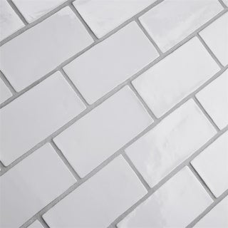 SomerTile 3x6-inch Thames Bianco Ceramic Wall Tile (Case of 16)