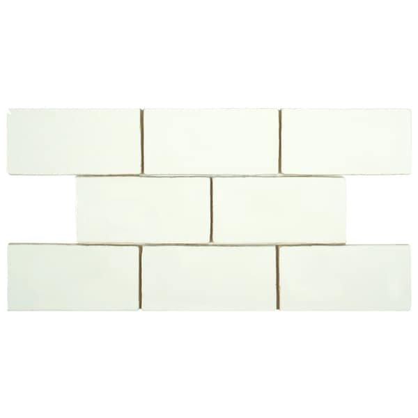 Somertile 3x6 inch thames bianco ceramic wall tile case for 16 inch floor tile
