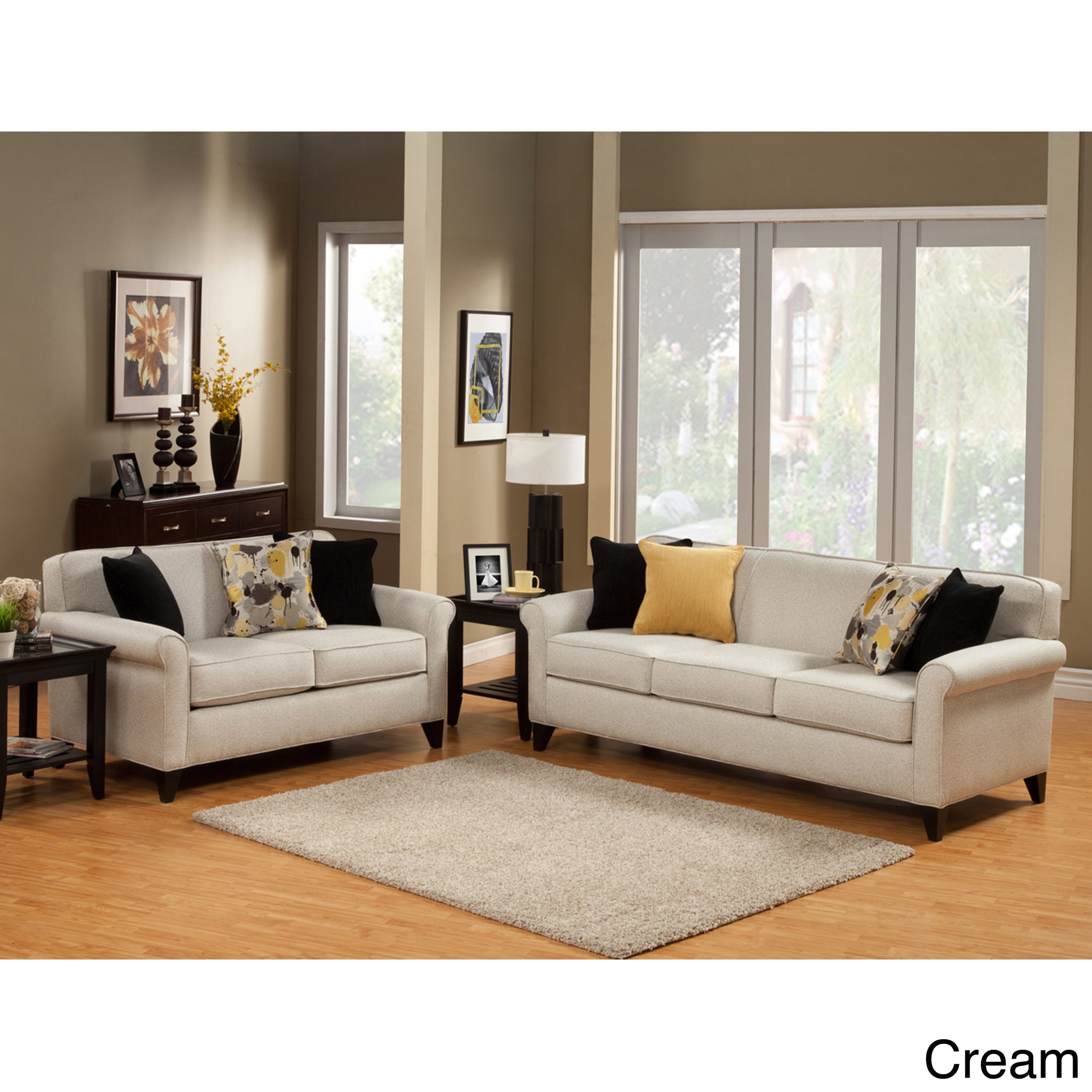 Furniture of america artistica sleek modern 2 piece for Sofa set deals