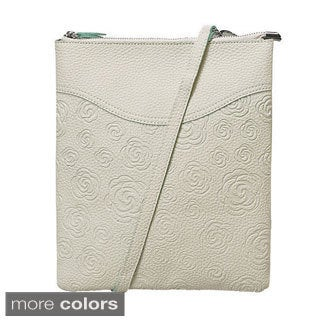 Mellow World Lovely Floral Embossed Crossbody Bag