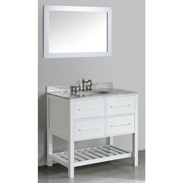 Six Inch Bosconi Sb  Wh Contemporary Single Vanity Free Shipping Today Overstock Com