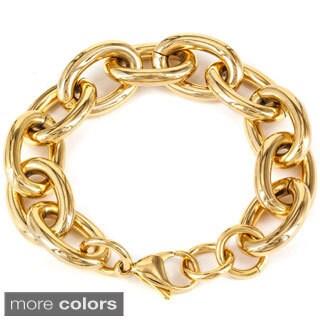 Stainless Steel ELYA Over Sized Chain Link Bracelet