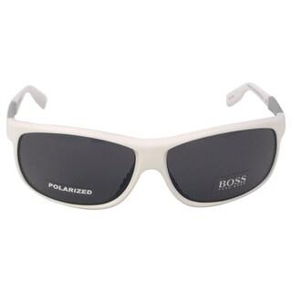 Hugo Boss Men's '0522/S AMOTD' Matte White Polarized Sunglasses