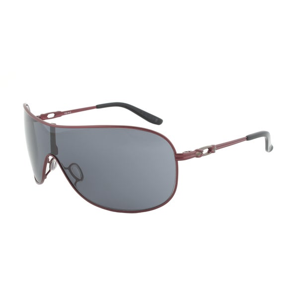 Oakley Women's 'Collected' Cayenne Red/ Grey Wrap-around Sunglasses