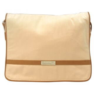 Nino Cerruti 'Cerruti' Cream Canvas Handbag