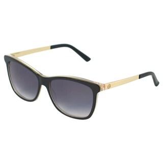 Gucci Women's 'GG 3675/S 4WHJJ' Black/ Embossed Gold Fashion Sunglasses