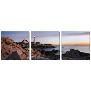 Paul Lemke's 'Lighthouse View' Canvas Gallery Wrap Art 3 pc set