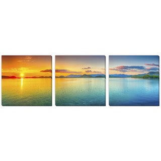 Gallery Direct Olga Khoroshunova's 'Sunset' Canvas Gallery Wrap Art 3 pc set