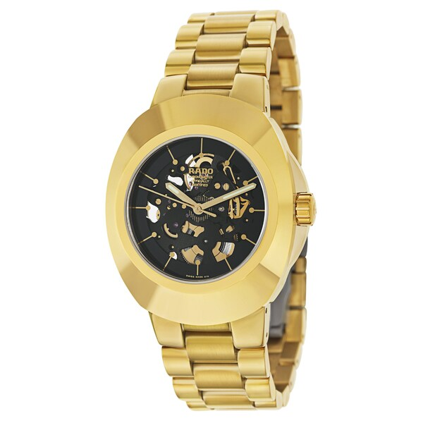 Rado Men's R12829163 'Original' Yellow Gold PVD-coated Stainless Steel Chronometer Watch