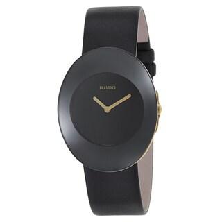 Rado Women's R53740155 'Esenza' Black Leather Swiss Quartz Watch
