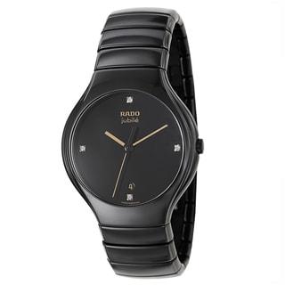 Rado Men's R27653752 'Rado True Jubile' Black Ceramic Swiss Quartz Watch