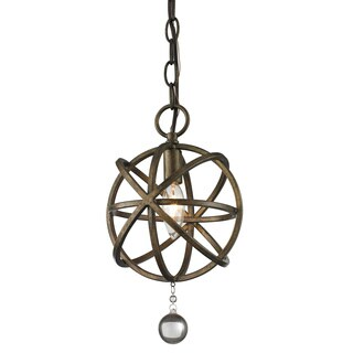 Acadia 1-light Golden Bronze and Clear Crystal Mini Pendant