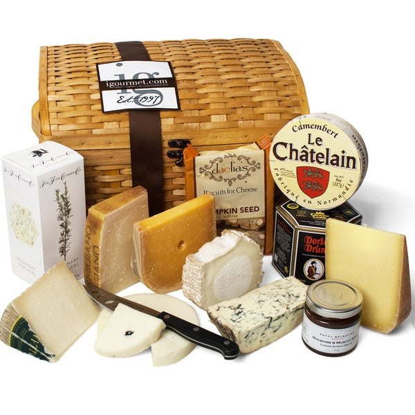 igourmet Luxurious Cheese Treasures Gift Basket