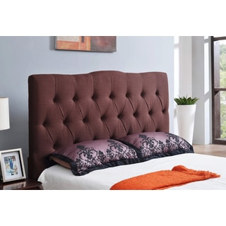 Abbyson Living Aspen Chocolate Tufted Linen Headboard