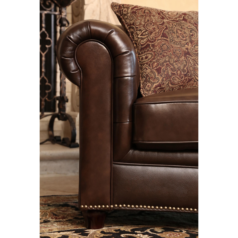 ABBYSON LIVING Montego Black Tufted Bonded Leather Platform Bed