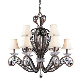Classique 9-light 2-tier Weathered Patina Chandelier