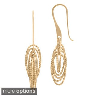Gioelli Goldplated Sterling Silver Diamond Cut Dangle Earrings