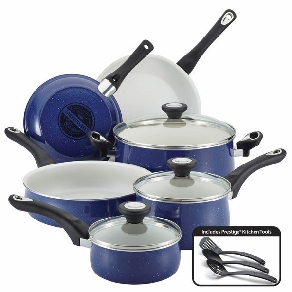Farberware New Traditions Speckled Aluminum Nonstick 12-piece Cookware ...