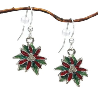 Jewelry by Dawn Holiday Poinsettia Dangle Earrings