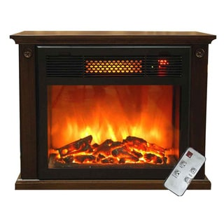 TWFP1500 Electric Portable 1500-watt Infrared Fireplace with Remote