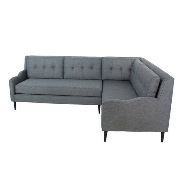 Inncdesign Genova Grey Mid-century Sectional sofa